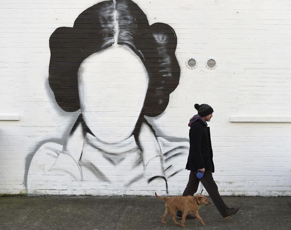 Foto: Mural en homenaje a la princesa Leia, a la que encarnaba la actriz Carrie Fisher | Foto: Reuters