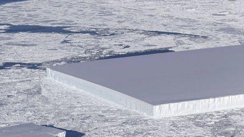 ¿Qué hace ese trozo de hielo cuadrado en mitad del océano?