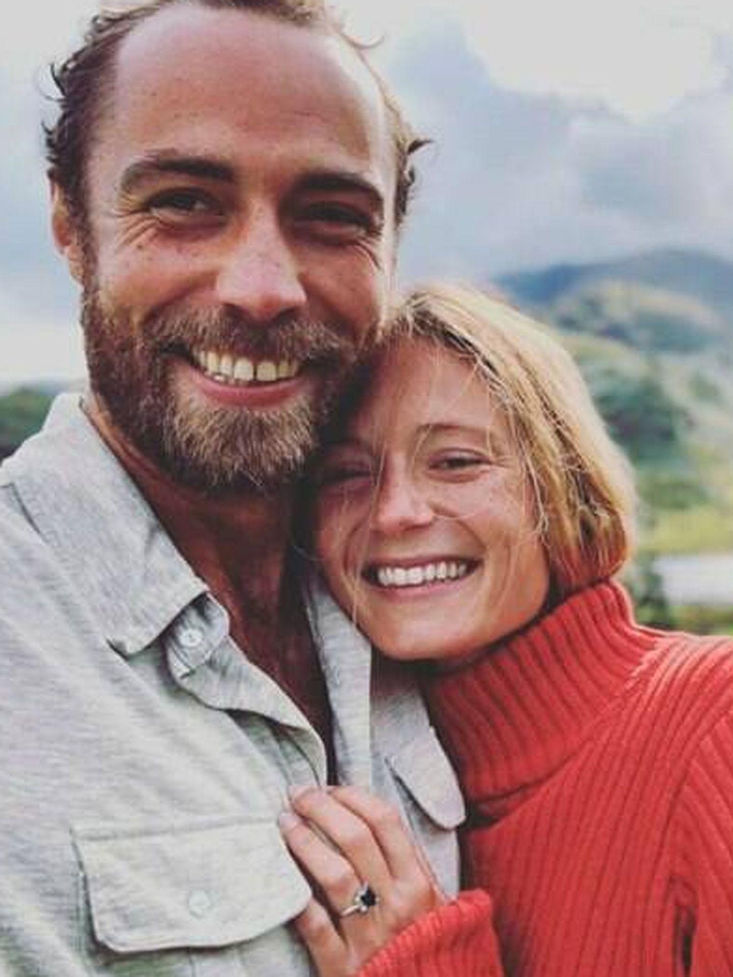 James Middleton y su ya esposa. (Instagram)