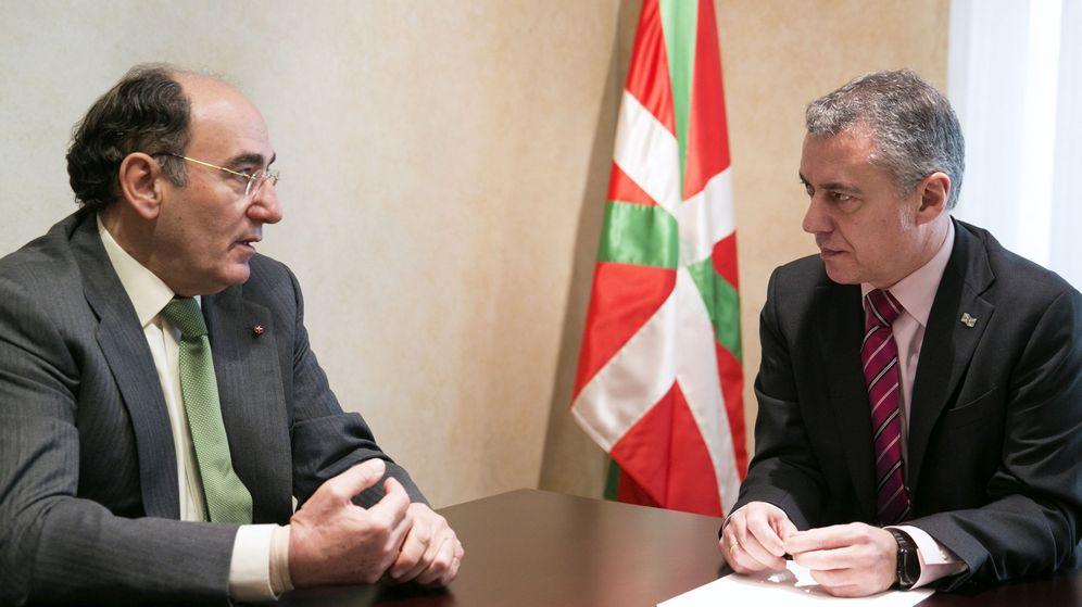 Foto: Foto de archivo del lendakari, Iñigo Urkullu, junto con el presidente de Iberdrola, Ignacio Sánchez Galán. (EFE)