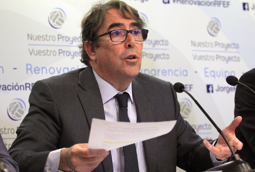 Foto: En la imagen, Jorge Pérez, candidato a la presidencia de la Real Federación Española de Fútbol. (EFE)