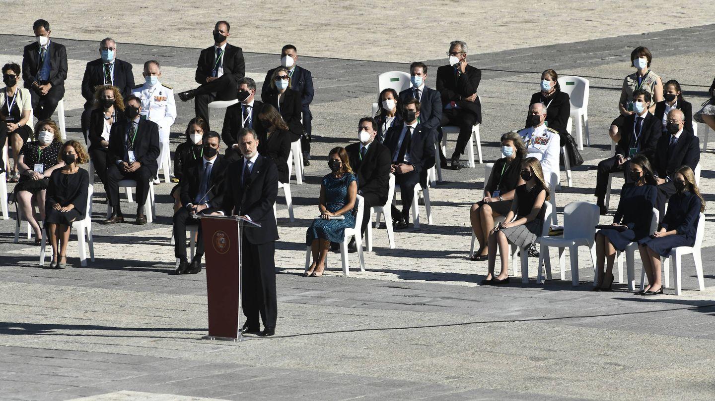 La familia real, en el acto laico en memoria de las víctimas por covid-19. (Limited Pictures)