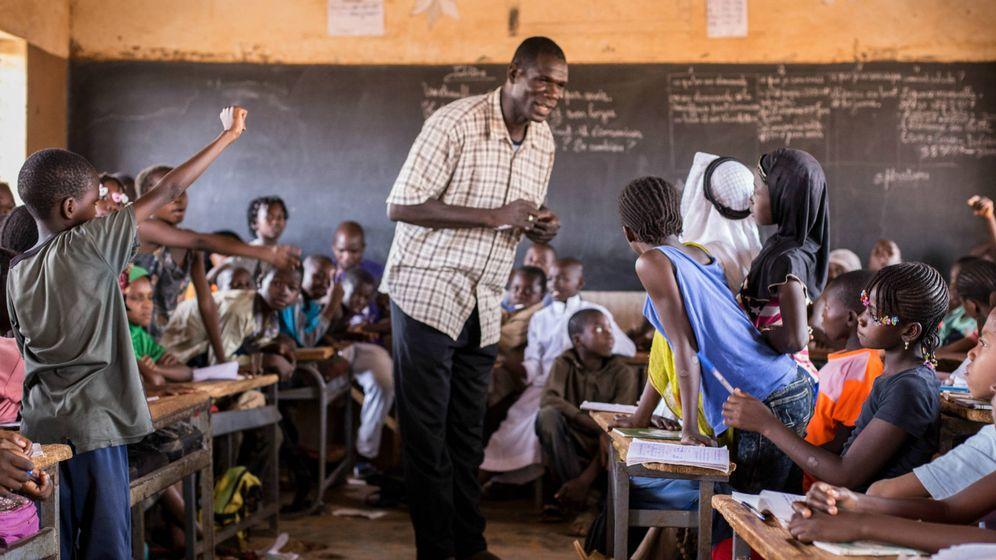 Foto: Un profesor durante una clase en Ouahigouya, al norte de Burkina Faso. (M. Rodríguez)