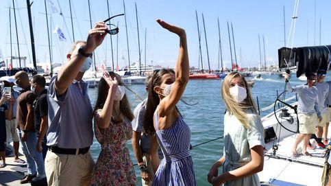 Felipe VI, Letizia y sus hijas: apoyo olímpico en su segunda aparición en Mallorca