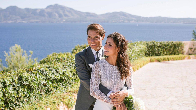Rafa Nadal y Mery Perelló, el día de su boda.