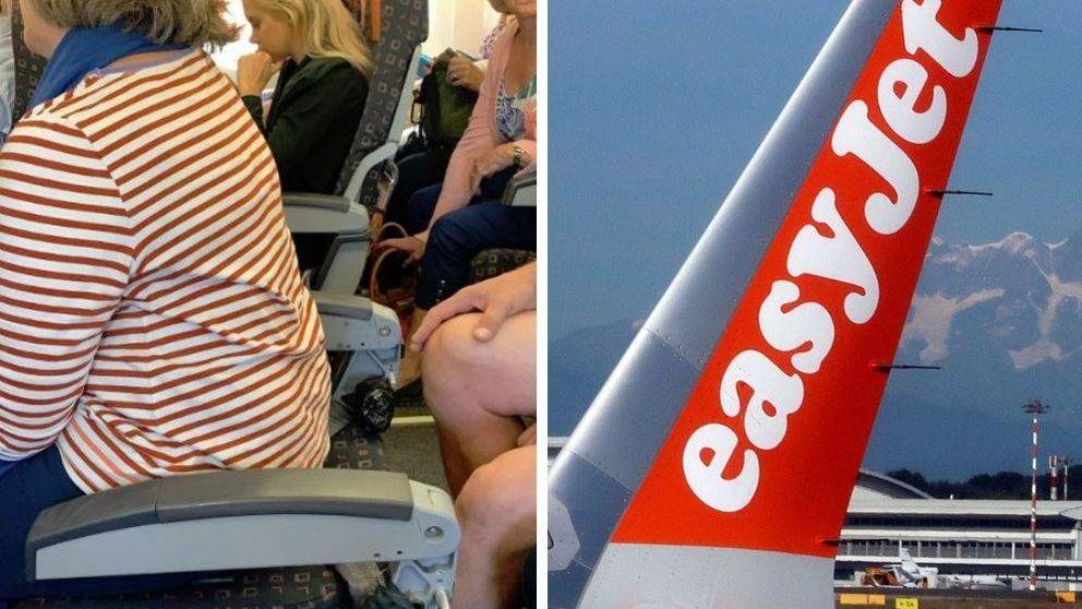 EasyJet pide borrar una foto en Twitter con una pasajera en un asiento sin respaldo