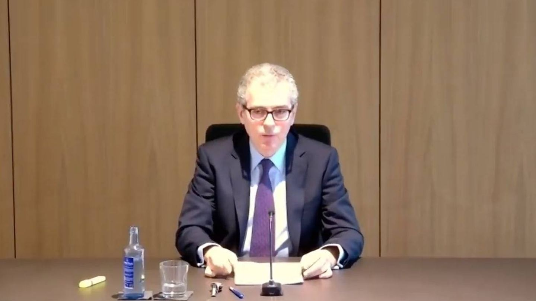 Pablo Isla, durante su intervención por videconferencia en la cumbre de la CEOE.