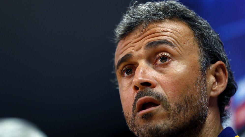 Foto: Luis Enrique, entrenador del Barcelona, en rueda de prensa (Efe).