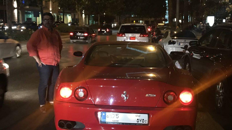 Ferrari en Beirut con matrícula de tres dígitos. (J.B.)