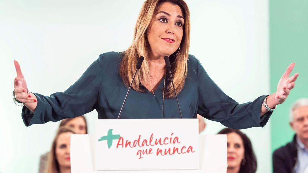 Foto: La Secretaria General del PSOE-A, Susana Díaz, durante el Comité Director del PSOE de Andalucía el sábado. (EFE)