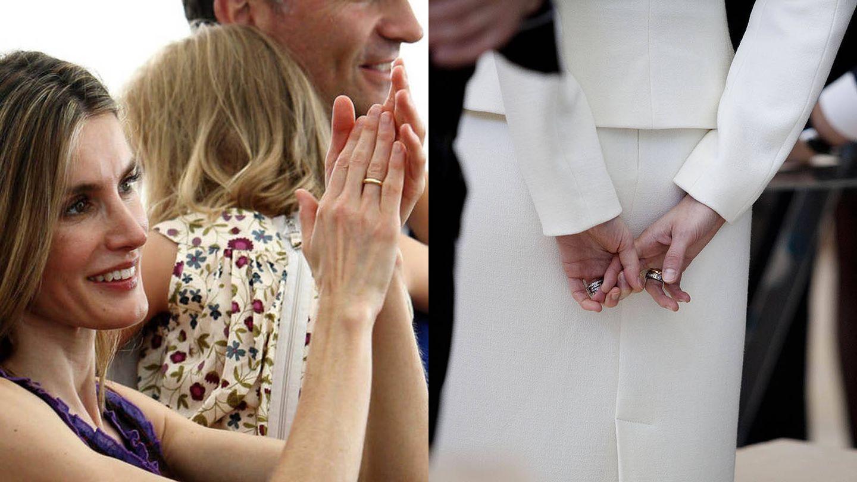 Las manos de la reina Letizia. (Getty)
