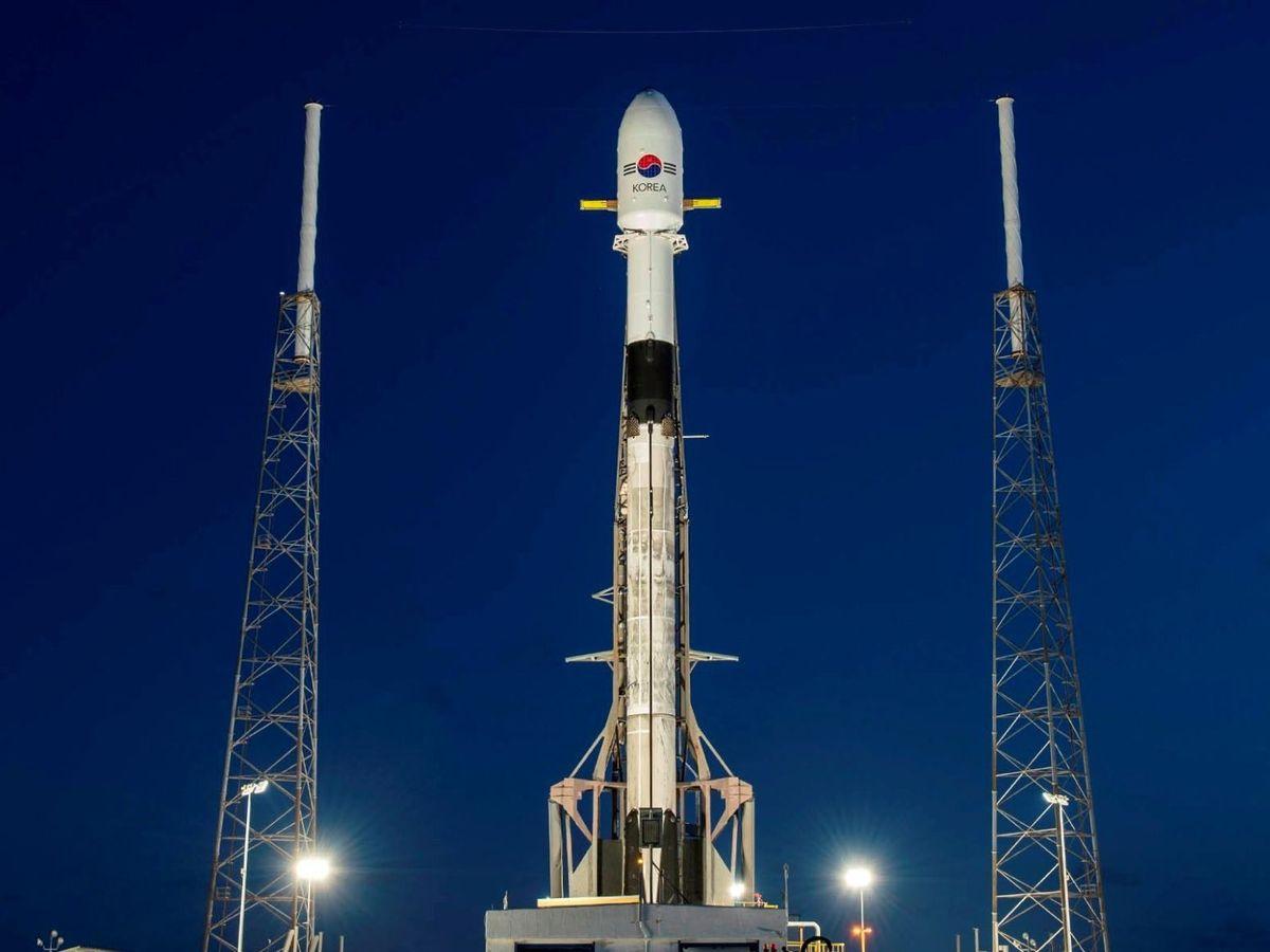 Foto: Vista del lanzamiento de SpaceX. (EFE)