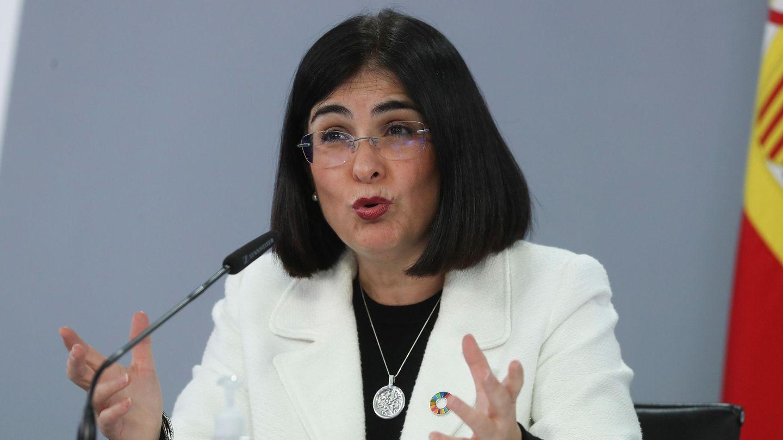 Carolina Darias, en una rueda de prensa. (EFE)