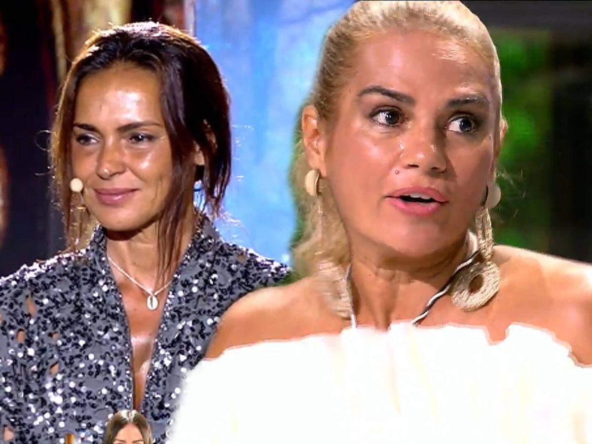 Foto: Olga Moreno y Sylvia Pantoja, en 'Supervivientes'. (Mediaset)