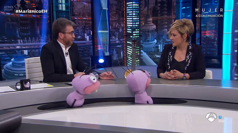 Pablo Motos, con Cristina Pardo. (Atresmedia)
