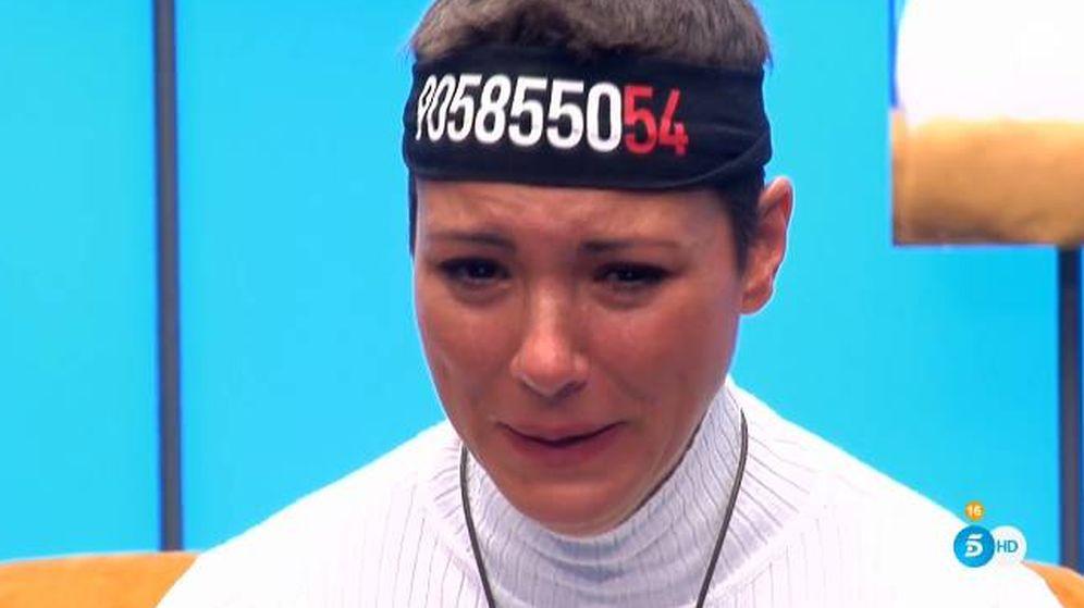Foto: María Jesús, llorando en 'GH Dúo'. (Telecinco)
