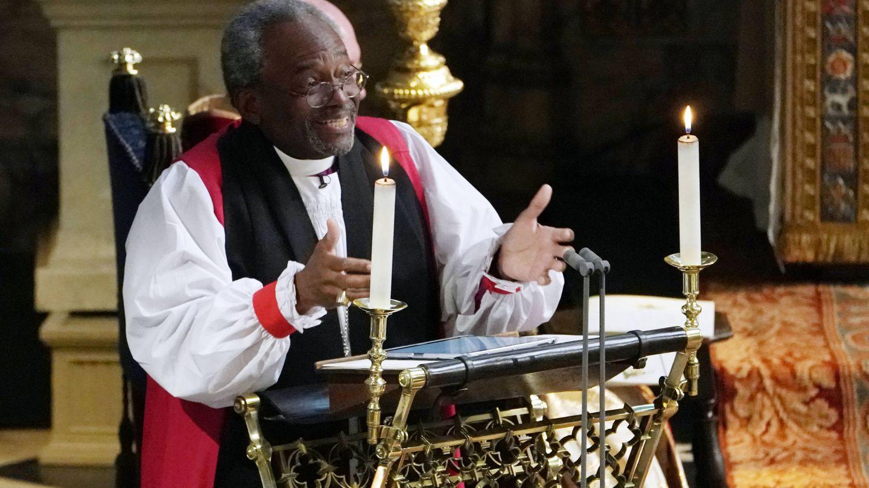 Michael Curry, durante el sermón. (Gtres)