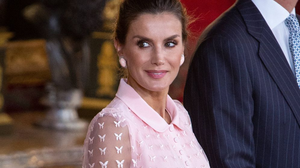 Foto: La reina Letizia en el Palacio Real. (Getty)