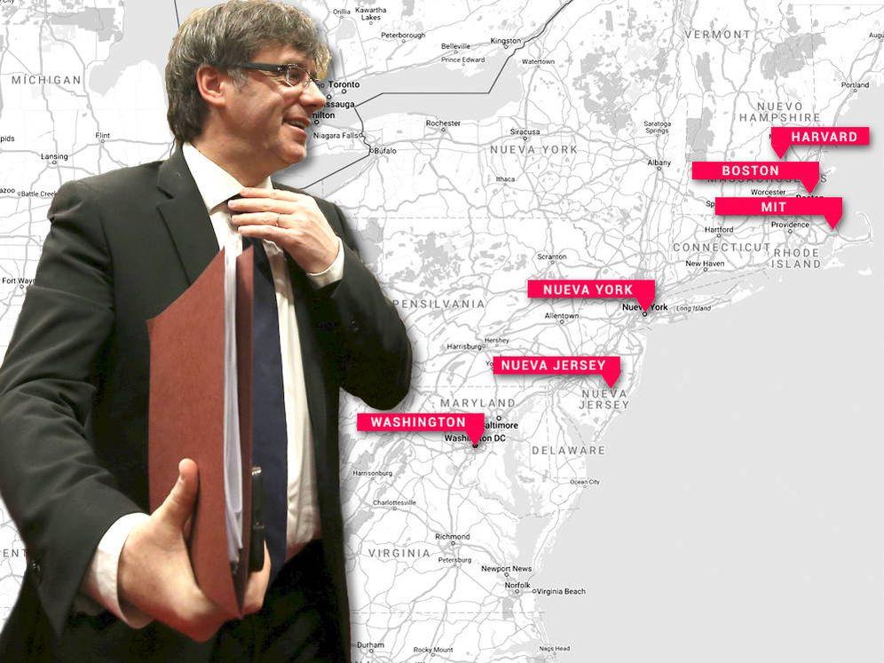 Foto: Puigdemont comenzó este lunes un viaje de cinco días por cuatro ciudades de EEUU. (El Confidencial)