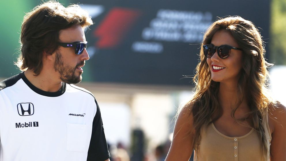 El viaje exprés de Lara Álvarez a Dubái para estar con Fernando Alonso