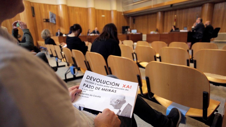 Así comenzó el juicio por el Pazo de Meirás. (EFE)