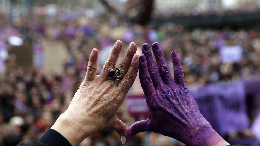 Foto: Movilizaciones feministas en Bilbao el pasado 8 de marzo. (EFE)