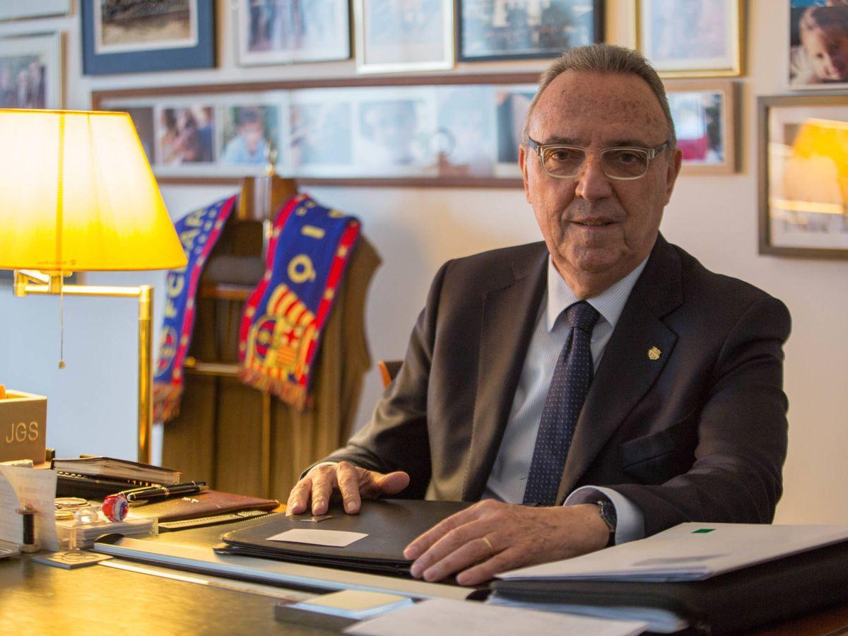 Foto: Joan Gaspart, en su despacho en el centro de Barcelona. (David Brunat)