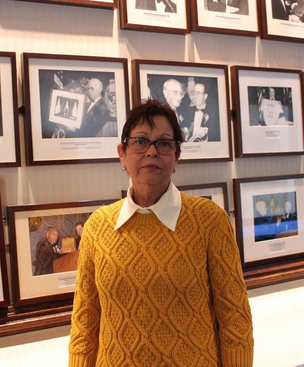 Foto: Miriam Leiva el año pasado en Washington en su primera visita desde que era niña. (Efe)