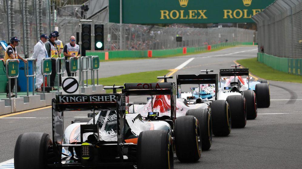 Foto: Las colas para salir a la pista durante el sábado.