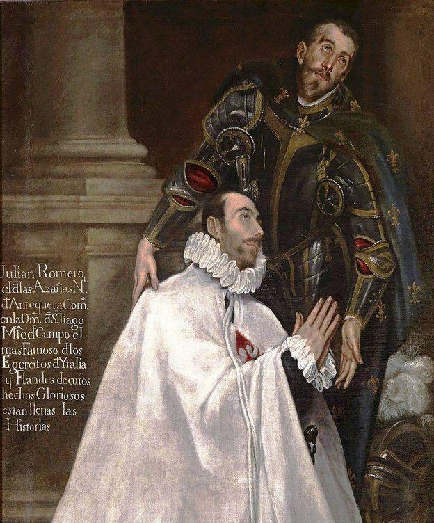 Foto: Julián Romero y su santo patrono. (El Greco)