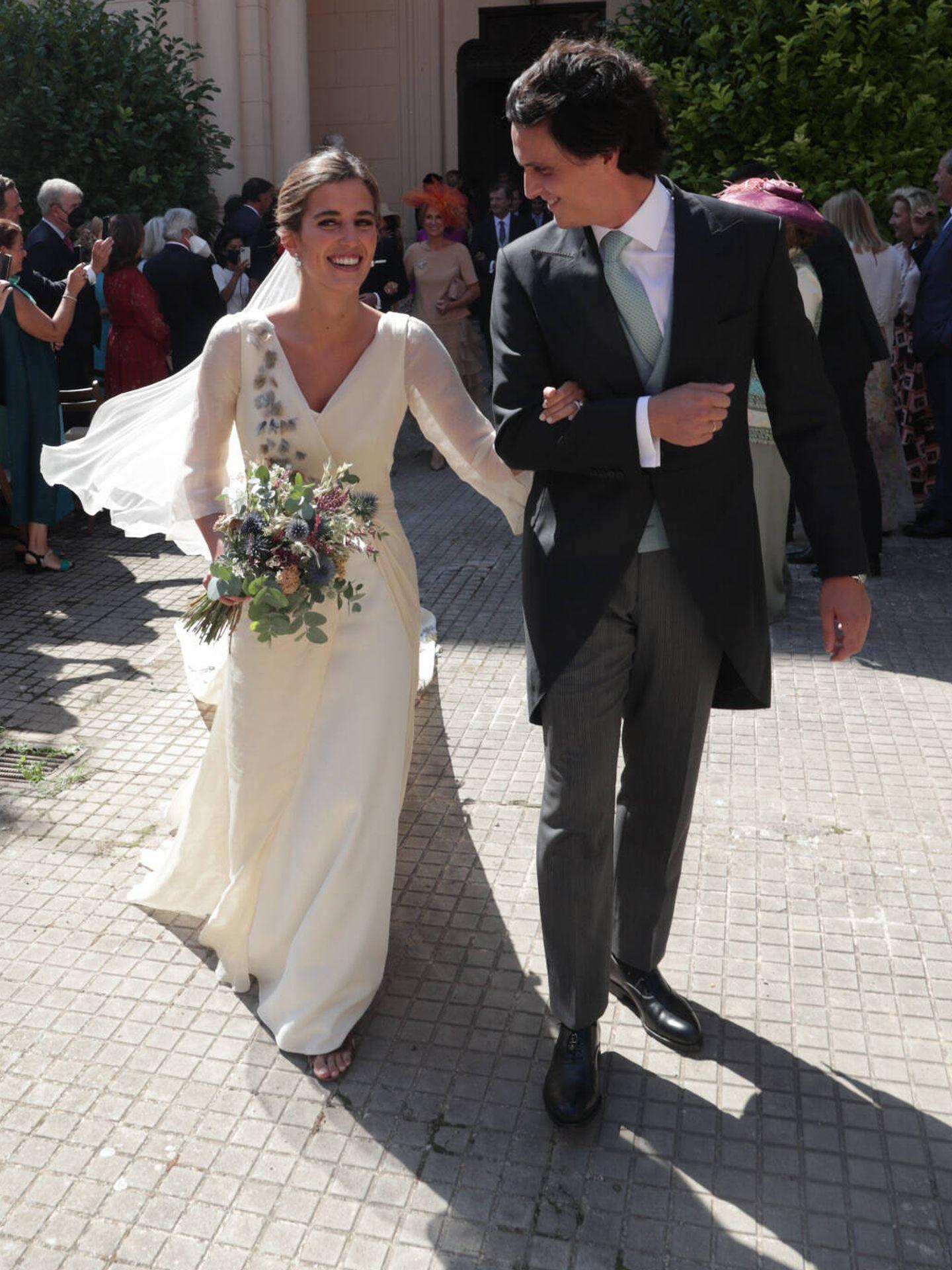 María Corsini y Diego Osorio tras la ceremonia. (Gtres)