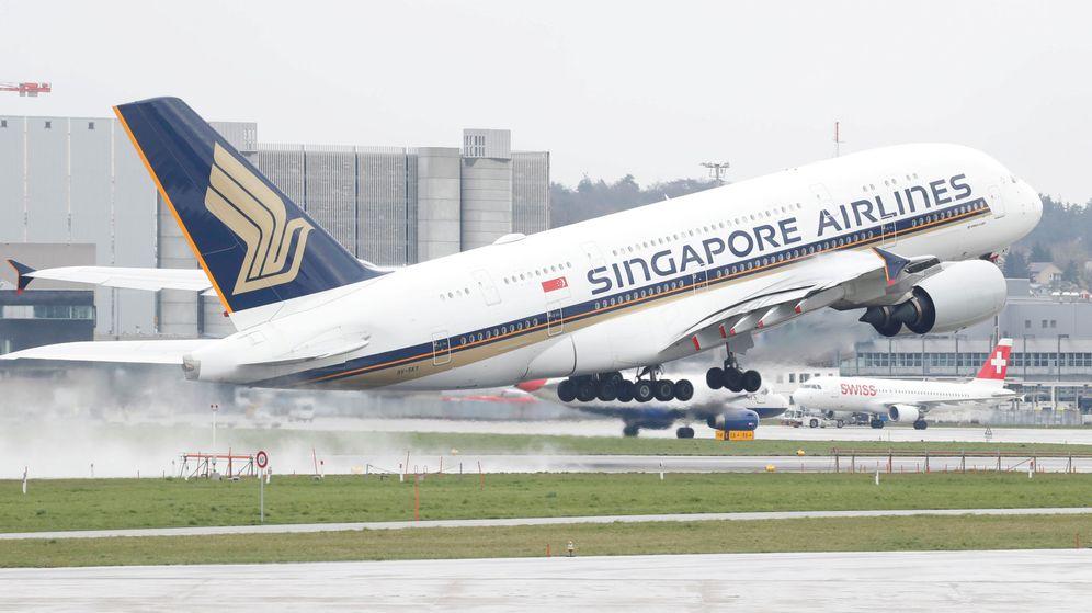 Foto: Airbus A380 despegando en el aeropuerto suizo de Zurich. (Reuters)