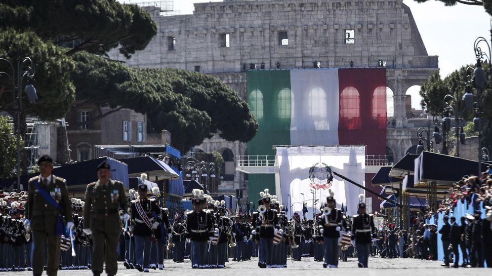 Foto: Celebración del Día de la República en Roma. (EFE)