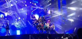 Post de La caída de una bailarina de la orquesta Panorama durante una actuación