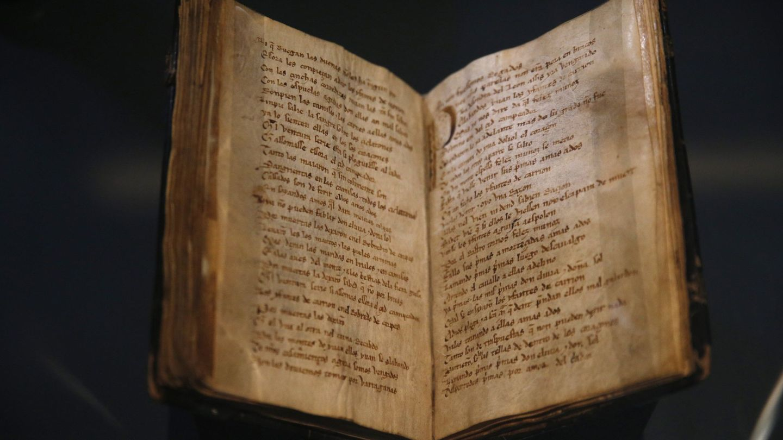 El Códice del Cantar del Mío Cid, uno de los grandes tesoros de la Biblioteca Nacional de España. (EFE)