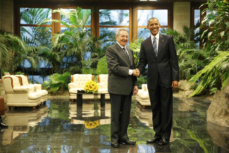 Foto: El presidente de EEUU, Barack Obama, junto a Raúl Castro durante su primer encuentro en La Habana, el 21 de marzo de 2016. (Reuters)