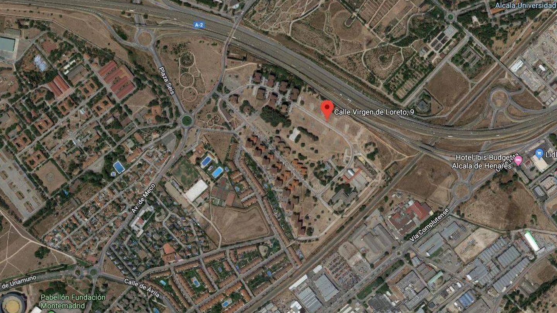 Ubicación de los solares a subasta en Alcalá de Henares.