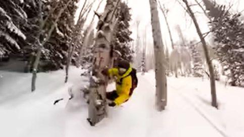 Un snowboarder graba cómo se parte la pierna tras un accidente fuera de pista