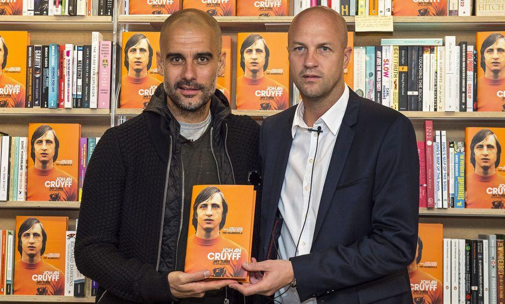 Foto: Pep Guardiola y Jordi Cruyff este jueves en Londres (Will Oliver/EFE)