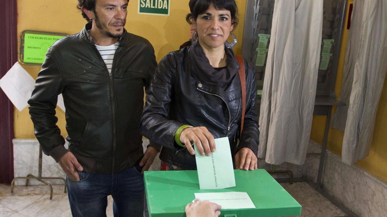 Foto: Kichi y Teresa Rodríguez en las elecciones andaluzas (EFE)