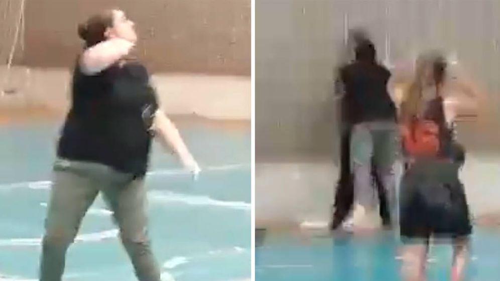 Foto: La mujer del entrenador expulsado primero agredió al árbitro y después le amenazó de muerte (Foto: Twitter)