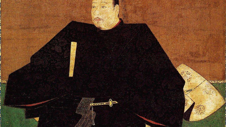 Retrato del gobernador japonés Ashikaga Takauji, abanico en mano, durante el período Muromachi, entre 1338 y 1573. Fuente: Wikipedia