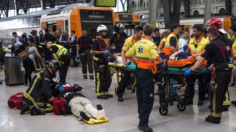 Accidente de tren en la estación de Francia de Barcelona: 54 heridos, uno de ellos grave