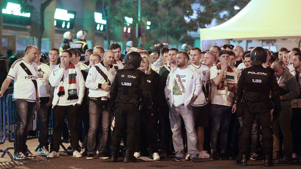 Amenazas de muerte y el Legia-Madrid de juveniles, también a puerta cerrada