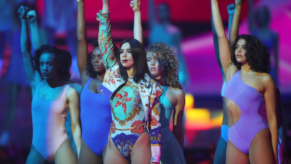Foto: Dua Lipa en los últimos Brit Awards. (Reuters)
