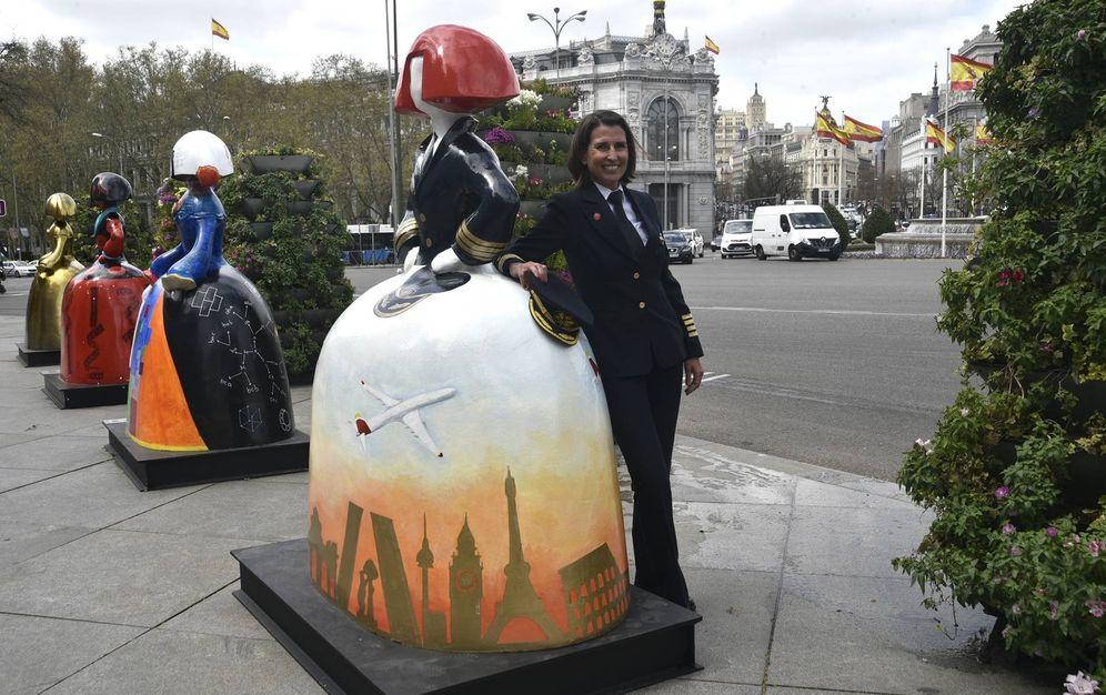 Foto: 'Talento a bordo' y meninas en la calle: el plan cultural de Iberia. (EFE)