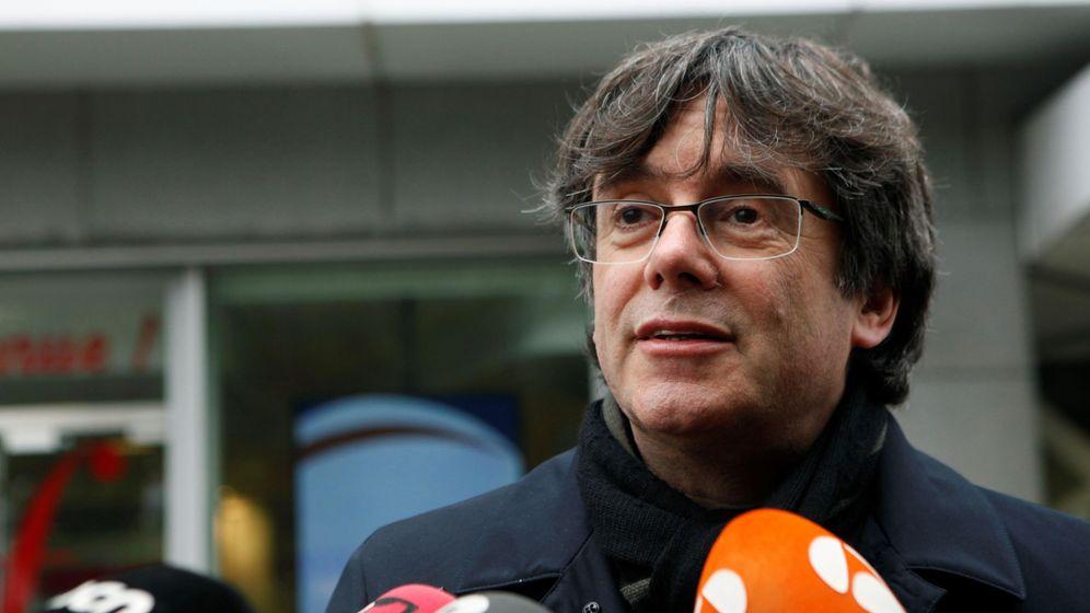 Foto: Rueda de prensa de Carles Puigdemont. (EFE)