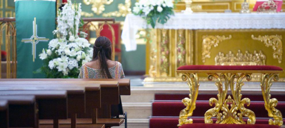 Foto: Tamara Falcó en una imagen de archivo en el interior de una iglesia (Gtres)