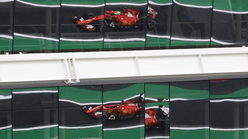 Foto: Sebastian Vettel en su Ferrari.