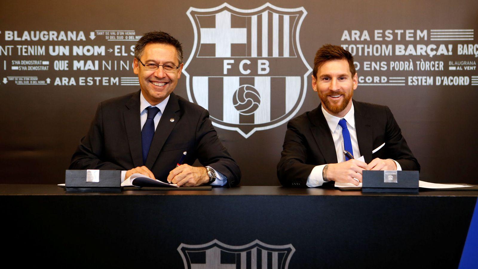 Foto: Messi renovó su contrato con el FC Barcelona en noviembre de 2017. (Reuters)